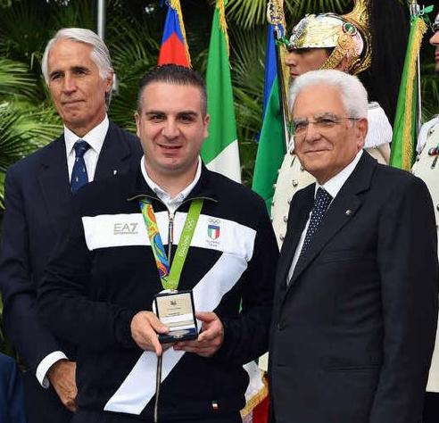 Il presidente della Repubblica e Marco Innocenti (foto da comunicato)