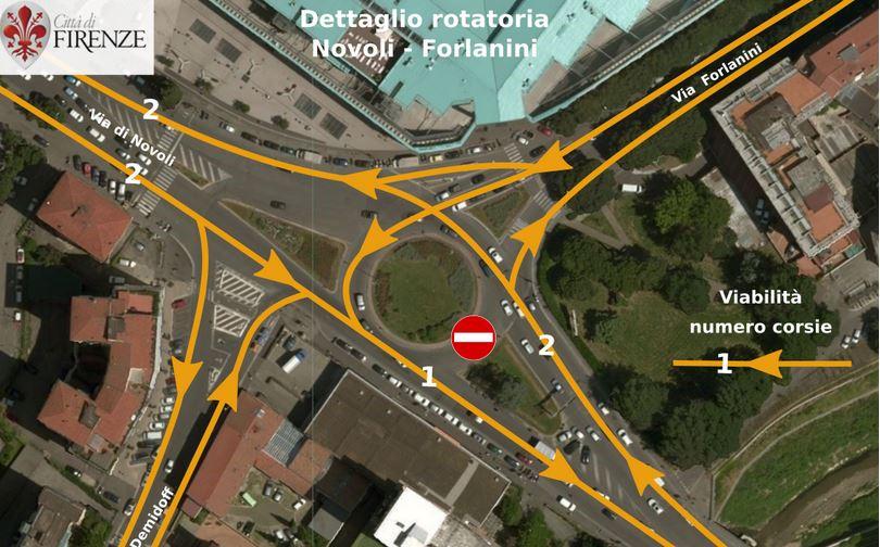Tramvia, lunedì sera cambia la viabilità nell'area della rotatoria di San Donato