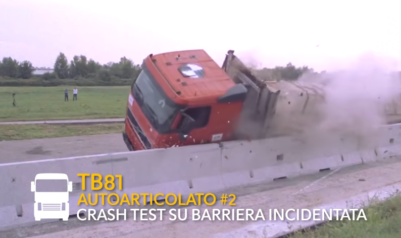 Test crash (Frame da video del comunicato)