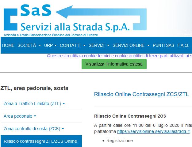 Permessi ZTL e ZCS di Firenze, da lunedì al via il rilascio on line