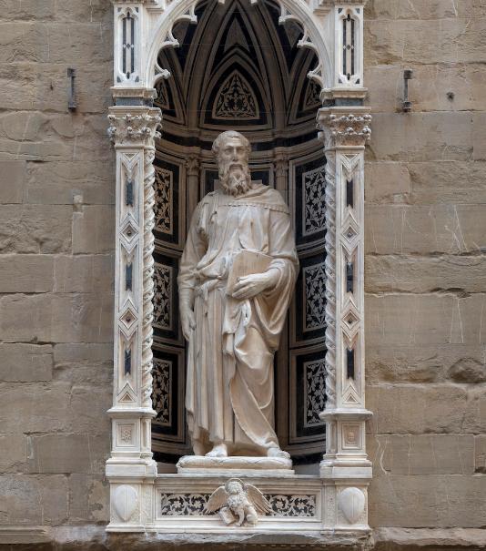 Orsanmichele, Tabernacolo dell'arte dei Rigattieri e dei Linaioli dopo il restauro - Foto Claudio Giusti (Fonte Musei del Bargello)