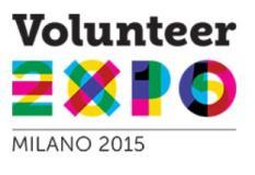 Logo volontari per Expo 2015
