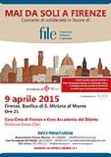 Locandina Concerto 'Mai da soli a Firenze'