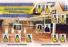 nella foto, le figurine degli atleti della Misericordia di Montemurlo - volley