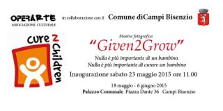 Given2Grow: la mostra fotografica associazione ONLUS Cure2Children