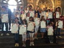 I giovani alunni vincitori delle borse di studio per il progetto della Fondazione Artemio Franchi su etica e sport.