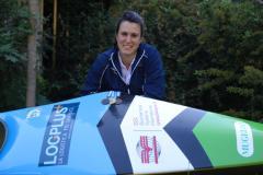 """la campionessa europea bonaccorsi con canoa """"Mugello"""""""