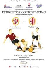 Manifesto del Derby storico fiorentino 2015