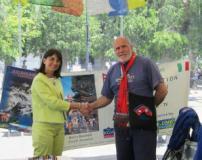 Il sindaco Biagiotti con Marco Banchelli