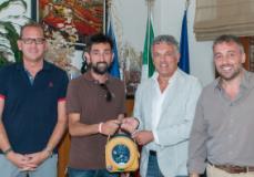 Consegna del defibrillatore al Calenzano Calcio
