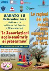 Manifesto dell'incontro del volontariato socio-sanitario a Montespertoli