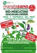 Volantino del Bio mercatino Mangiasano