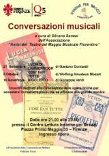 Locandina delle Conversazioni musicali a Brozzi
