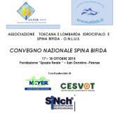 Locandina del convegno sulla spina bifida del 17 e 18 ottobre