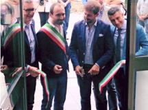 Al taglio del nastro il vice- sindaco Simone Calamai