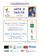 Locandina evento arte e carita operazione Mato Grosso