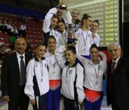 Premiazione della Ginnastiva Etruria al campionato a squadre di serie A1-A2