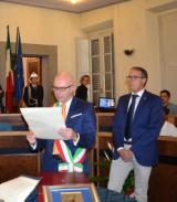 Il sindaco Alessio Spinelli e il consigliere delegato allo sport Fabio Gargani