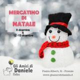 Locandina del Mercatino di Natale dell'associazione Gli Amici di Daniele Onlus