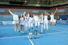 la gioia della squadra campione d'Italia Foto Rastrelli