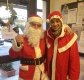 Volontari della Pubblica assistenza di Fucecchio in versione natalizia