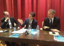 Da sn Angelo Migliarini, Dario Nardella, Fabio Beltram