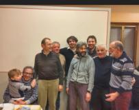 Alcuni partecipanti all'iniziativa di solidarieta' a Lucolena