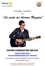 Locandina dello spettacolo di Filippo Lazzari in favore di un centro donazioni del sangue a Signa