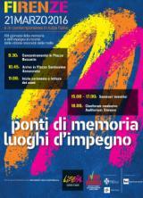 Manifesto della Giornata della Memoria e dell'Impegno in ricordo delle vittime innocenti delle mafie