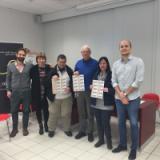 BUONI SPESA - da sx Bartalucci, Ghizzani, Mauro Dei, Biotti, Silvestri, Francesco Dei