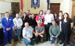 Presentazione della domenica promossa dal Gruppo Sportivo Handicappati Toscana e dal Comune di Montecatini