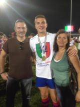 Leonardo Mannelli con i genitori