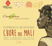Locandina dello spettacolo pro donne del Mali allo Chalet Fontana