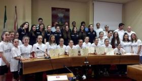 Le atlete dell'ASP Montelupo in comune