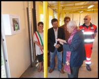 Benedizione del nuovo defibrillatore