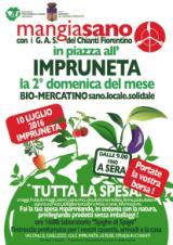 Locandina Biomercatino Mangiasano all'Impruneta