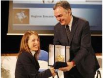 Sara Morganti, premiata con il Pegaso d'Oro
