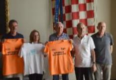 Da sinistra, Roberto Isola del Cai Pistoia, Emanuela Manetti, Mario Tuci,  Roberto Bonistalli, Franco Bertolucci