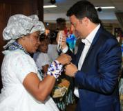 Il presidente Renzi in visita a Agata Smeralda