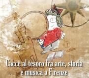 Immagine dal volantino delle cacce al tesoro culturali a Firenze