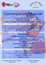 Volantino Conversazioni musicali a Brozzi