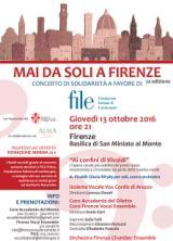 Locandina 'Mai da soli a Firenze'