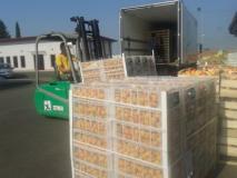carico prodotti alimentari