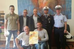 L'assessore Forastiero con gli organizzatori della gara, Christian Giagnoni e Roberto Valerio della Cure to children