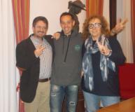 Adamo Pruneti salutato, nel Palazzo Comunale dagli assessori Giampiero e Marinella Fossi