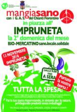 Volantino Biomercatino Mangiasano