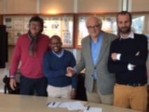 Convenzione firmata 18 novembre dal Ceo della Nelson Mandela Foundation Sello Hatang e dal presidente del Mandela Forum Massimo Gramigni, alla presenza assessore allo Sport Andrea Vannucci Comune di Firenze