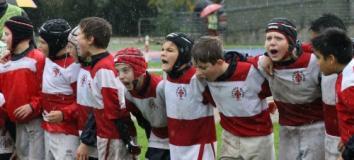 Under 12 alla Festa del Rugby a Firenze (fonte foto comunicato stampa)