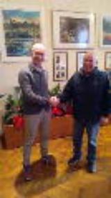 Il SIndaco Alessio Spinelli e il Presidente del tiro a segno Maurizio Poletti