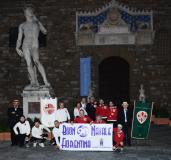 Rievocazione del Derby storico fiorentino in Piazza della Signoria